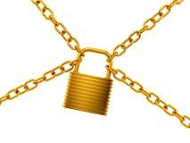 金黄锁定 向量例证
