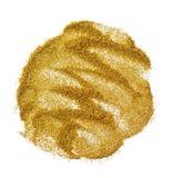 金黄闪烁圆的斑点  图库摄影
