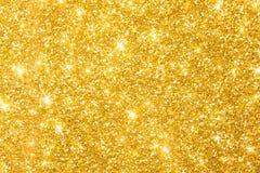 金黄闪烁背景横幅 免版税库存图片