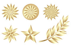 金黄集向量 库存图片