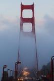 金黄雾的门 图库摄影