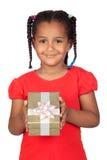 金黄非洲礼品的女孩一点 免版税库存图片