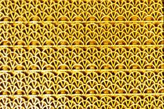 金黄颜色橡胶织地不很细席子  免版税库存照片