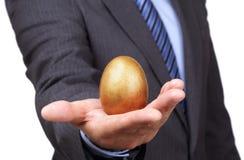 金黄鸡蛋 库存照片