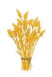 金黄麦子图标 库存照片