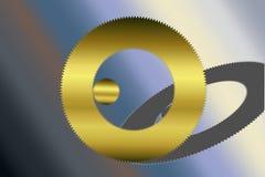 金黄齿轮例证 免版税库存图片