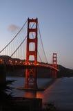 金黄1个桥梁的门 免版税库存图片