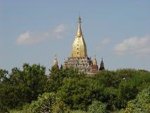 金黄bagan的缅甸 免版税库存图片