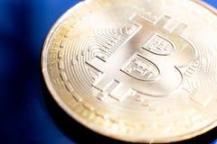 金黄Bitcoin数字式货币 免版税库存照片