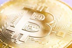 金黄Bitcoin数字式货币 图库摄影