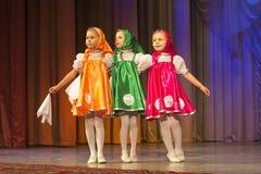 金黄Fenix芭蕾舞蹈艺术比赛在米斯克 免版税库存照片