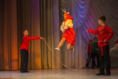 金黄Fenix芭蕾舞蹈艺术比赛在米斯克 免版税库存图片