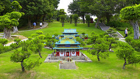 金,瓷微型纪念寺庙  库存图片