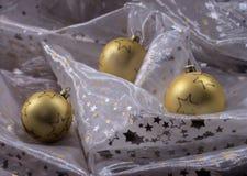 金黄三一些圣诞节 库存图片