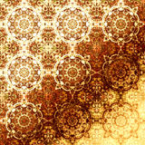 金黄东方样式,假日民间传统元素 免版税库存图片