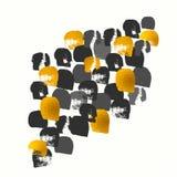 金黄传染媒介绘了形状样式,手拉的水彩刷子 免版税图库摄影