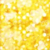 金黄光发光的方形的背景  向量例证