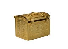 金黄军人用小型提箱 库存照片