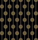 金黄几何无缝的样式 免版税图库摄影