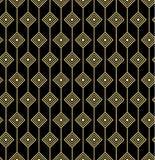 金黄几何无缝的样式 图库摄影