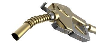 金黄加油泵 免版税库存图片