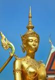 金黄卫兵在曼谷 库存照片