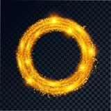 金黄发光 向量例证