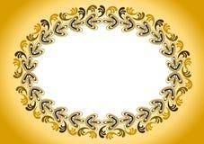 金黄古色古香的老框架 免版税图库摄影