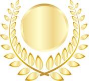 金黄叶子冠 皇族释放例证