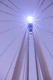 从金黄周年纪念桥梁的细节 免版税库存照片