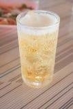 金黄啤酒与 库存图片