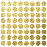 金黄圈子小点方形的圣诞节绵生日设计模板 免版税库存图片