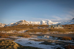 金黄圈子游览冰岛 库存照片