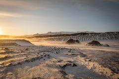 金黄圈子游览冰岛 免版税库存图片