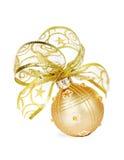 金黄圣诞节中看不中用的物品 免版税库存图片