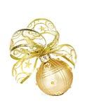 金黄圣诞节中看不中用的物品 免版税库存照片