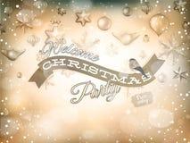 金黄圣诞节的装饰 10 eps 免版税库存图片