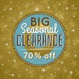 金黄圣诞节背景和销售提议 向量例证