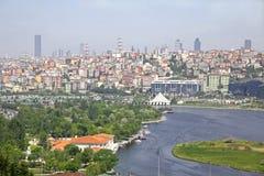 金黄垫铁入口在伊斯坦布尔,土耳其 免版税库存照片