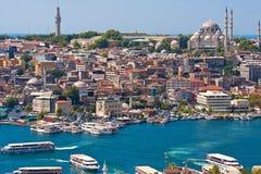 金黄垫铁在伊斯坦布尔 图库摄影