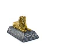 金黄埃及狮身人面象 库存照片