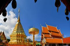 金黄塔土井素贴,泰国 免版税库存图片