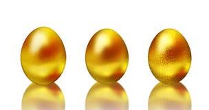 金黄复活节彩蛋 免版税库存图片