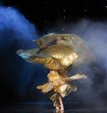 金黄女神土耳其腹部舞蹈这奥地利的世界舞蹈 免版税库存照片