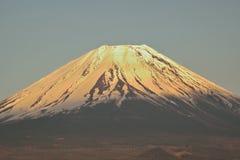 金黄富士山峰顶 图库摄影