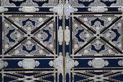 金黄寺庙门在镰仓,日本 图库摄影