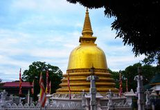 金黄寺庙, Dhambulla 库存照片