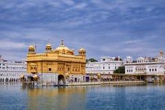 金黄寺庙(Harmandir Sahib)在阿姆利则,旁遮普邦,印度 免版税库存照片