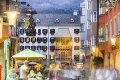 金黄屋顶在因斯布鲁克,奥地利。 库存照片