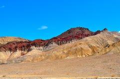 金黄峡谷在死亡谷国家公园 免版税图库摄影